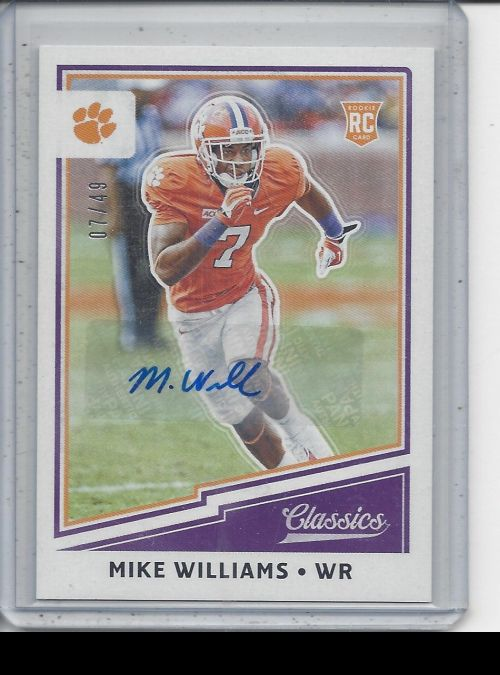 2017 Panini Classics   Mike Williams<br />Card Owner: Zach Martino
