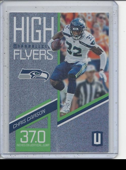 2019 Panini Unparalleled   Chris Carson<br />Card not available