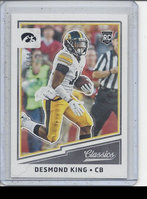 2017 Panini Classics   Desmond King<br />Card Owner: Zach Martino