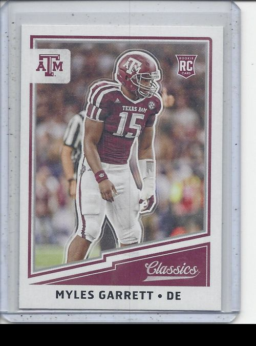 2017 Panini Classics   Myles Garrett<br />Card not available