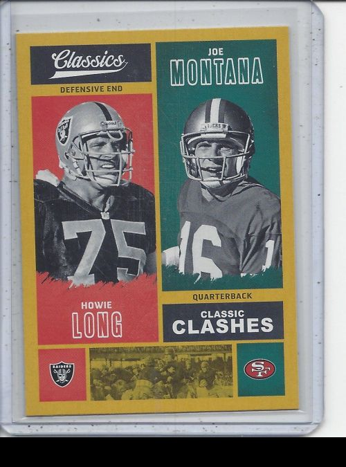 2017 Panini Classics   Howie Long, Joe Montana<br />Card Owner: Trade Box