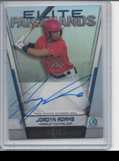 2019 Bowman Chrome   Jordyn Adams<br />Card not available