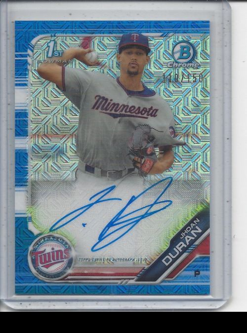 2019 Bowman Chrome   Jhoan Duran<br />Card not available