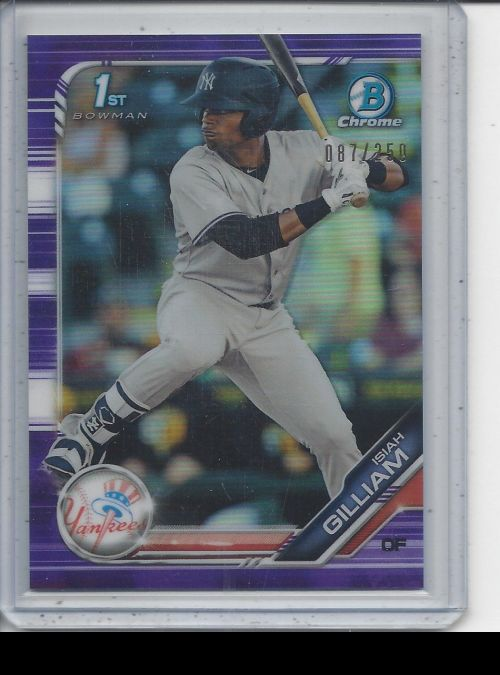 2019 Bowman Chrome   Isiah Gilliam<br />Card not available