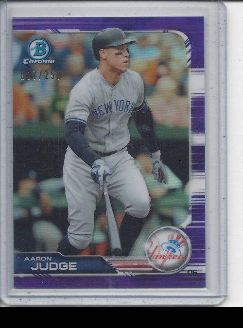 2019 Bowman Chrome   Aaron Judge<br />Card not available