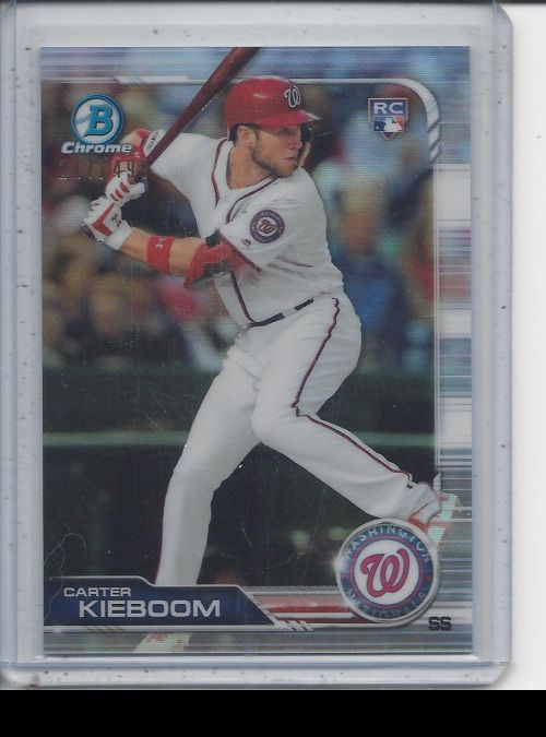 2019 Bowman Chrome   Carter Kieboom<br />Card not available