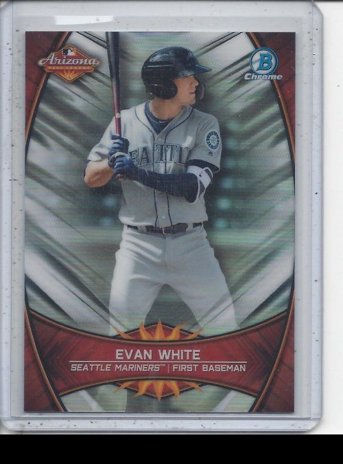 2019 Bowman Chrome   Evan White<br />Card not available