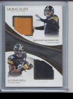 2017 Panini Immaculate LeVeon Bell, Ben Roethlisberger