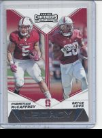 2019 Panini Contenders Draft Picks Bryce Love, Christian McCaffrey
