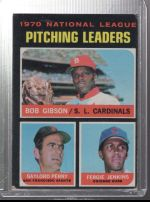 1971 Topps Fergie Jenkins, Gaylord Perry, Bob Gibson