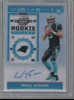 2019 Panini Contenders Optic   Will Grier<br />Card Owner: Chad Westberg
