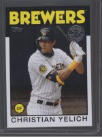 2021 Topps Legends Material Printing Plate Magenta Christian Yelich<br />Card Owner: Charles Royalty