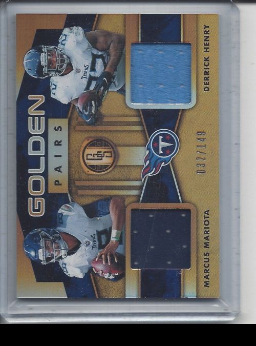 2019 Panini Gold Standard   Marcus Mariota, Derrick Henry<br />Card not available