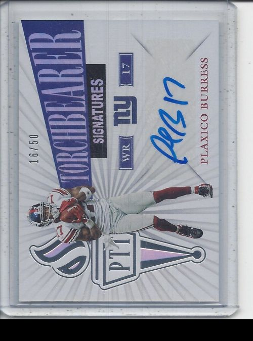 2019 Panini Passing the Torch   Plaxico Burress<br />Card not available