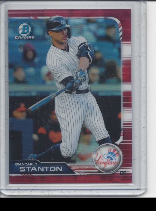 2019 Bowman Chrome   Giancarlo Stanton<br />Card not available
