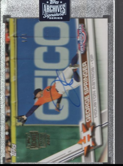 2020 Topps Archives Signature Series Active Player Edit   George Springer