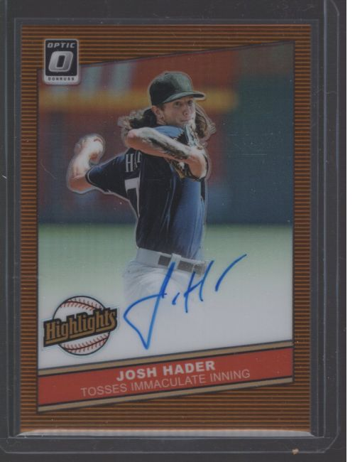 2020 Donruss Optic Legends Material Printing Plate Magenta Josh Hader<br />Card not available