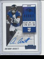 2018 Panini Contenders Anthony Averett