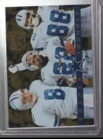 1996 Pinnacle Zenith Michael Irvin, Emmitt Smith, Troy Aikman