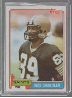1981 Topps Wes Chandler