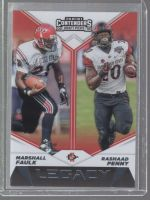 2019 Panini Contenders Draft Picks Rashaad Penny, Marshall Faulk