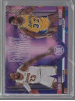 2019-20 Panini Illusions Legends Material Printing Plate Magenta LeBron James, Magic Johnson<br />Card not available