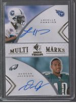 2008 SP Rookie Threads DeSean Jackson, Lavelle Hawkins
