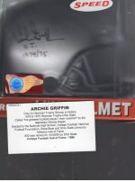 2020 Tristar Hidden Treasures Autographed Mini Helmets  Legends Material Printing Plate Magenta Archie Griffin<br />Card Owner: Virginia Carpenter
