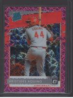 2020 Donruss Optic Legends Material Printing Plate Magenta Aristides Aquino<br />Card Owner: Stephen Theriot